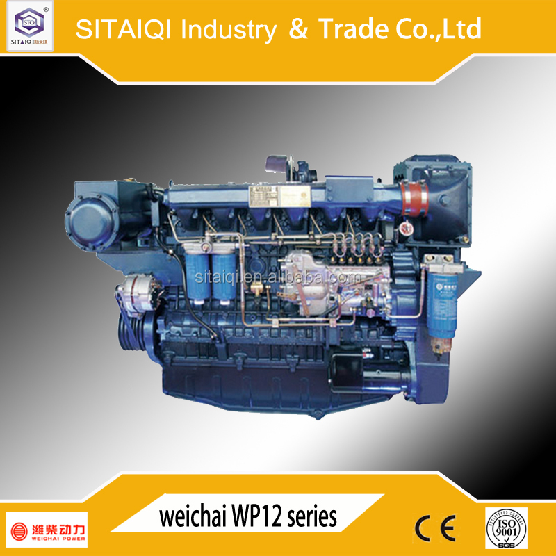 Weichai Marine Diesel Engine WP12 SERIES 140kw to 420kw 12 Cylinders with advance gearbox approved by CCS for ship