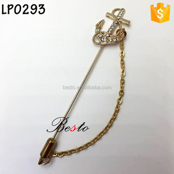 China factory outlets metal lapel pin for men's suits decoration