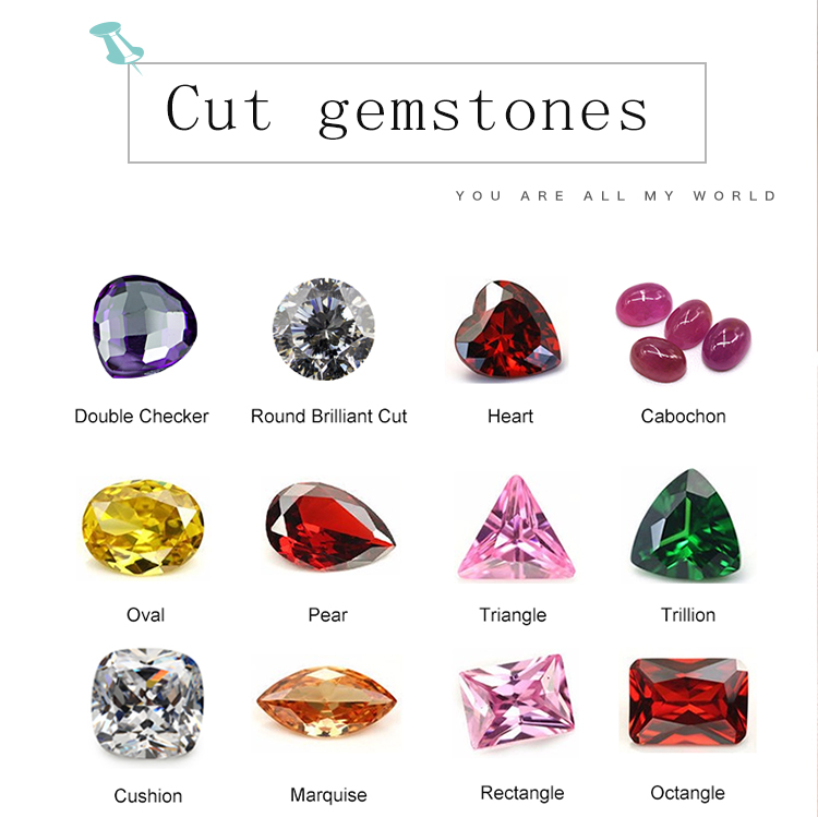 supplier synthetic stone heart shape cubic zirconia stone price