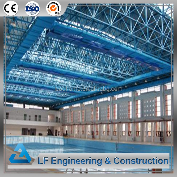 Arched roof construction structure prefabricated swimming pool