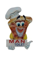 Resin Pizza Toilet Door Sign (Male)