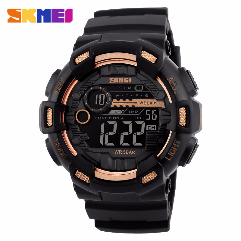 custom Dual time analog digital watch double movement plastic digital watch