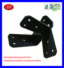 custom L angle brackets black coating steel metal folding table bracket