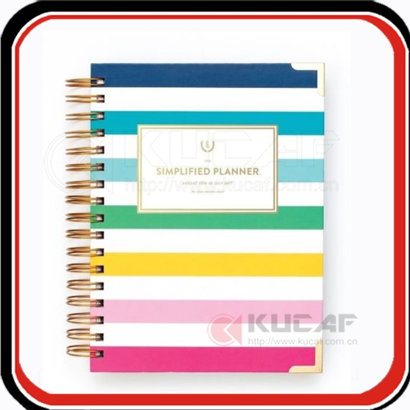Custom gift box packing spiral hardcover simplified planner printing