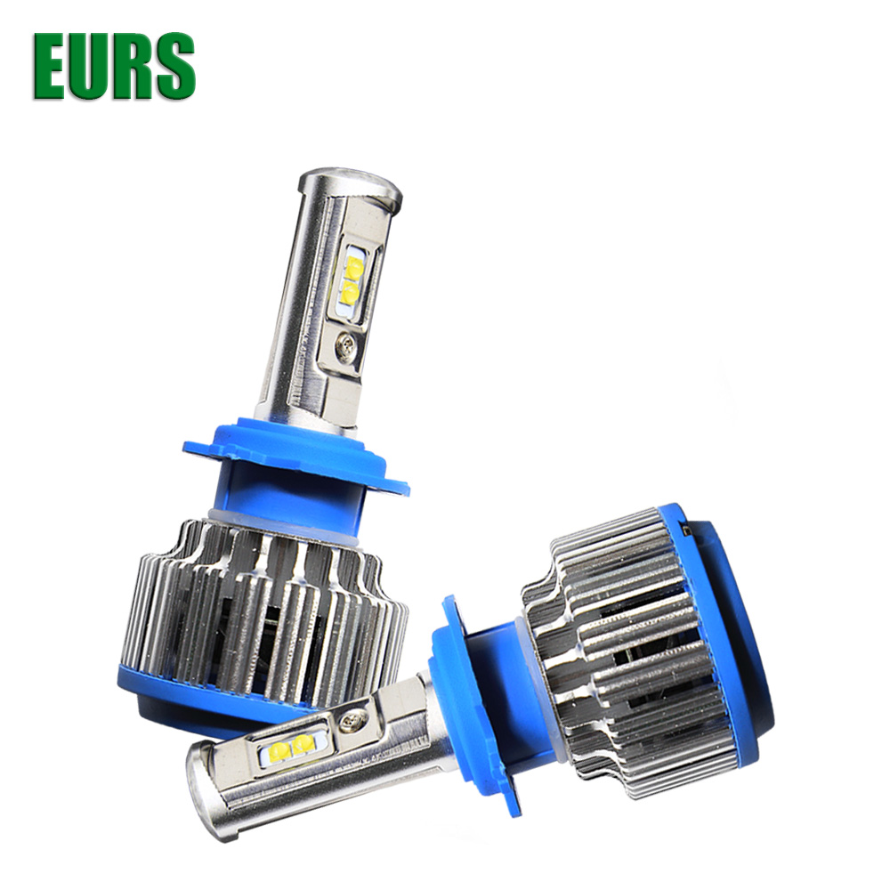 EURS <strong>auto</strong> IP68 6000K 7200lm 70W universal car H27 HB2 HB3 HB4 9004 9005 9006 9007 9012 880 h1 h7 h3 H8 H9 h11 led headlight