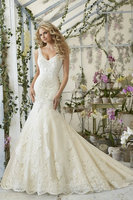 (MY2814) MARRY YOU Sleeveless Bridal Gowns Sexy Lace Luxury Beaded Mermaid Wedding Dresses
