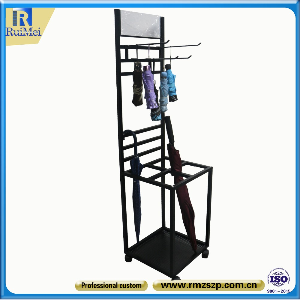 Customized Multi-functional Metal Unbrella Hanging Display Stand