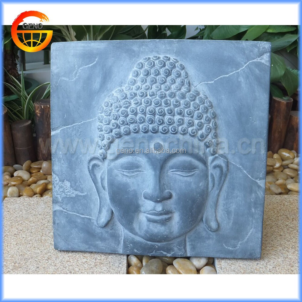 Wholesale vintage stone resin buddha wall plaques