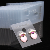 Customize clear plastic earring display card