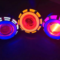 Colorful Brilliant Aftermarket Motorcycle Headlight Kits