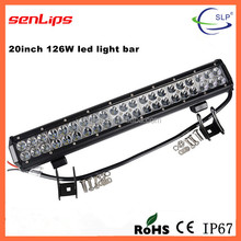 Factory Wholesales IP67 126W Offroad LED Light Bar For CE Rohs Approved Auto Spare Parts Super Brightness 10-30V LE