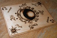 Haunted Magic Energy Spell Board, Spirit Board, Talking Board, Witch Board