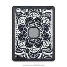 Rugged Soft Silicone TPU Paper-cut Flora pattern Case Shockproof Protective For ipad 234