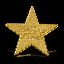 die casting gold five point star pin badge