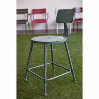 American Vintage Mocha Metal cafe Dining Chair