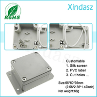 Electronics outlet enclosure 65*60*36mm plastic waterproof housing for electronic pcb panel