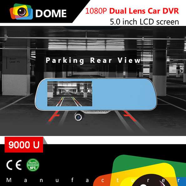 Parking rear view Android system dual lens Dashcam Car camera with GPS Google map navigation