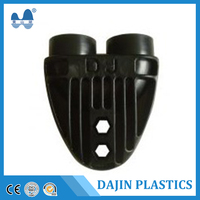 Polypropylene plastic tubes high quality pipe pe super single/double u joint