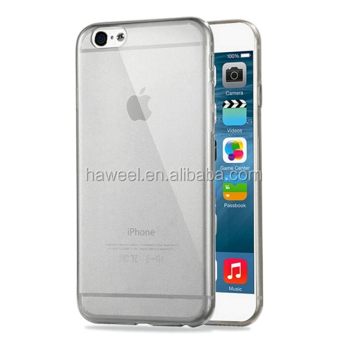 wholesale HAWEEL 0.3mm Zero Series Transparent TPU Protective Case for iPhone 6 Plus(Black)