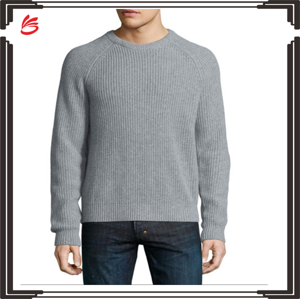 Latest design cashmere sweater o-neck plain custom sweater for man