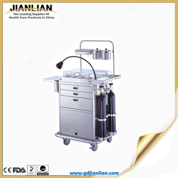 JL metal hospital cart medical rolling carts JLC085