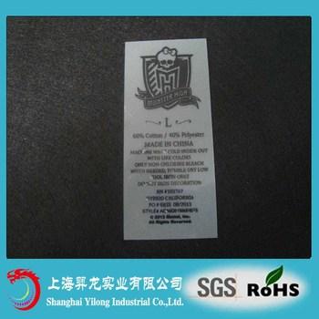 Custom design heat transfer label for clothing buy heat for Heat press shirt labels