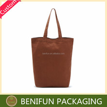 high quality unique shape brown canvas tote bag blank factory printing