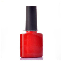 UV gel nail polish cylindrical roll on bottle glass unique design hot sale 15ml empty red colored