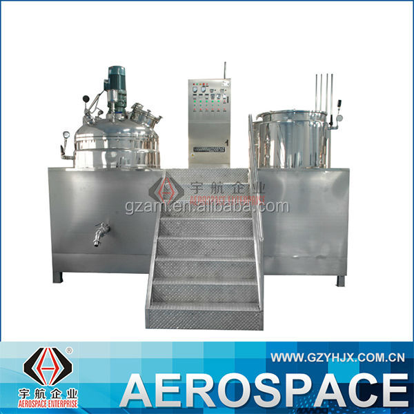 YHRHJ Agitator Mixing Homogeneous Vacuum Emulsifier Mixer Food/Cosmetic/Gel Chemical Processing Emulsifier