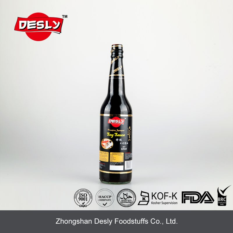 625ml glass bottle premium japanese soy sauce for children