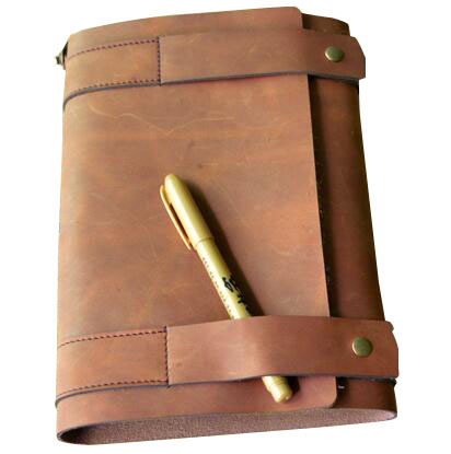 Hot Product 2017 Gift Luxury Vintage Horse Crazy Leather Refillable Nothebook Journal Diary