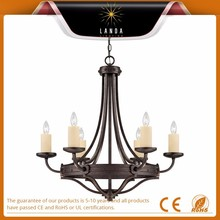 2015 new product ancient painted iron hanging chandelier lighting American country style
