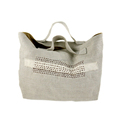 linen fashion bag ladies linen handbag 2017