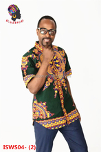 Gzmadison 2016 Wax print fashion dashiki shirt/Dashiki african Clothes for men/ISWS04-2