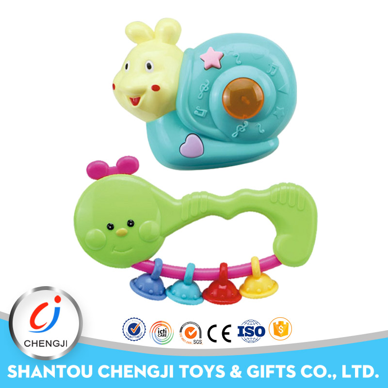 China wholesale cheap plastic small educational musical rattle baby
