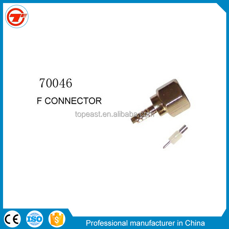 f amp crimp conectores for coaxial cable rg59 rg6