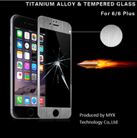 MYX many colors can be chosed full cover tempered glass screen protector/screen protector for iphone6