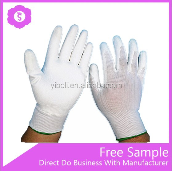 White PU coated cut resistant gloves for work
