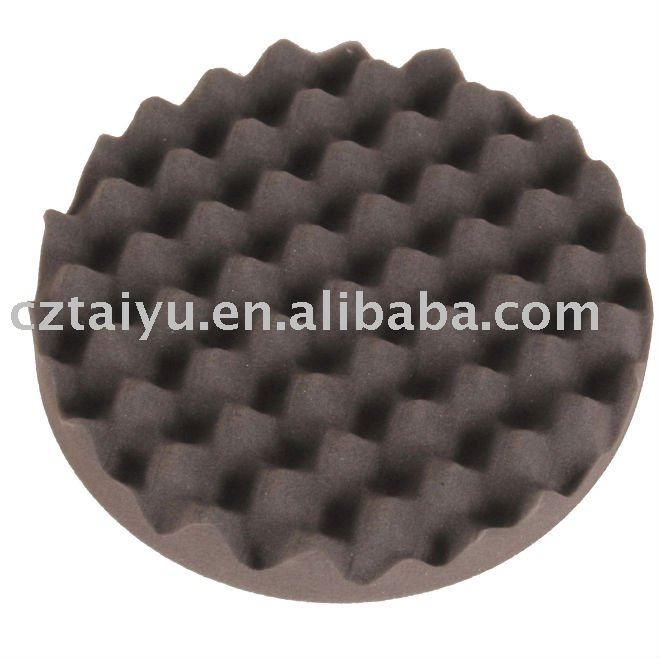 7inch wave foam buffing pad 180mm car polishing pad