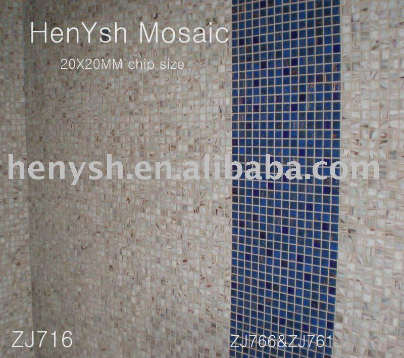 Caldo bagno in mosaico piastrelle, oro piastrelle di vetro mosaico ...