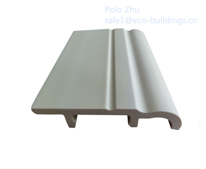 Laminate flooring accessories---plastic wooden wpc pvc Skirting board with high quality and competitive price