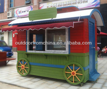 China mobile portable kiosk booth and concession for food and beverage