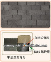 flat 3 tab colorful asphalt roofing shingles 12 colors