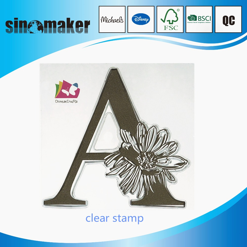 rubber clear stamps for crafts and scrapbooking