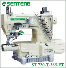 ST 720T-365-ET HIGH SPEED SMALL CYLINDER BED 3-NEEDLE 5-THREAD INTERLOCK SEWING MACHIN /INDUSTRIAL SEWING MACHINE