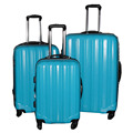 Pure Color ABS PC Factory Luggage Set 3 Pcs Travel Luggage