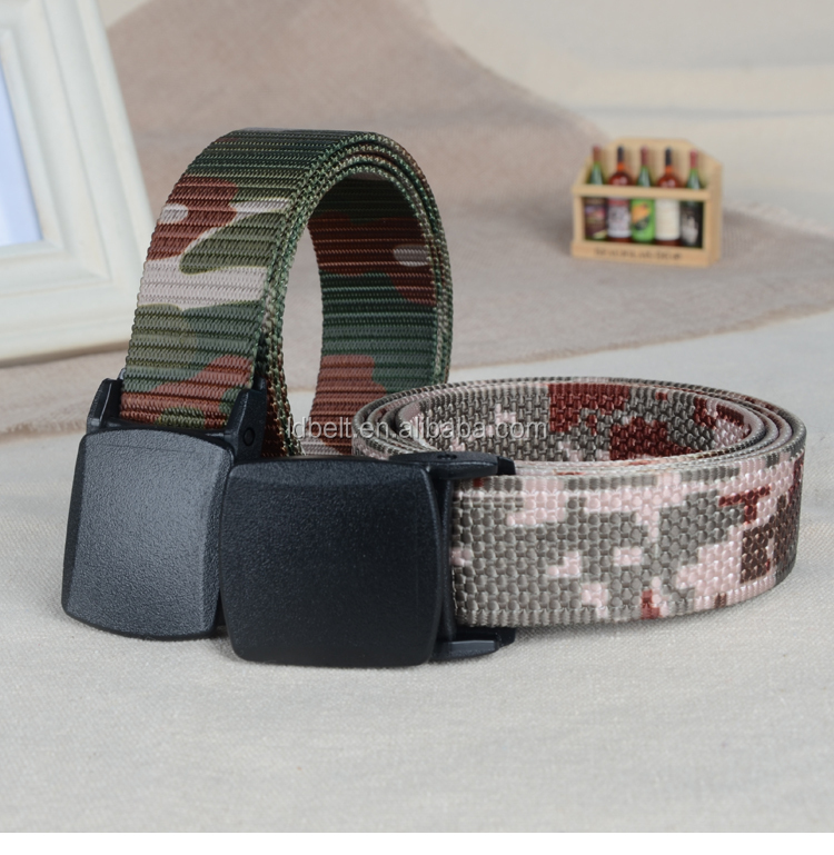 Custom military camouflage belts