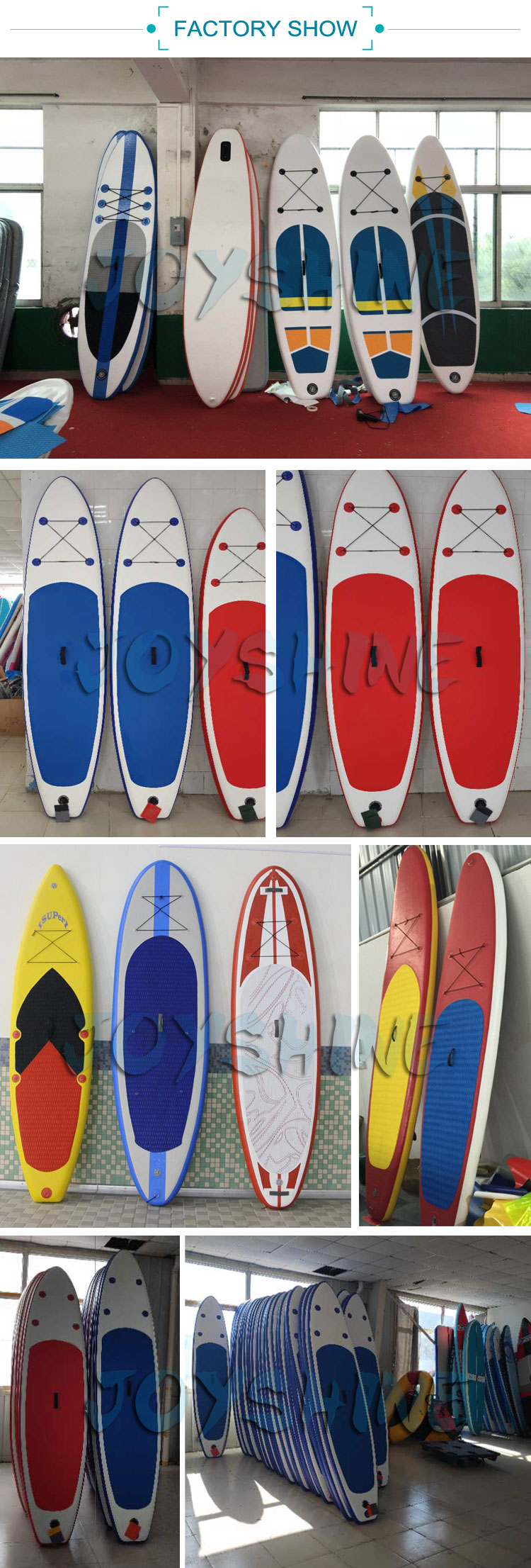 Custom Size Surfboards Sup Windsurf Paddleboard Durable Inflatable SUP Paddle Board Stand From Joyshine Factory