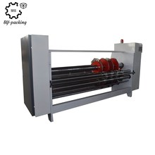 Corrugated carton box rotary slotting slitting corner cutting machine