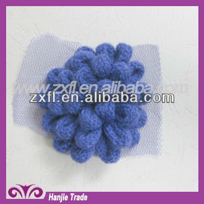 Latest New Flower Wool Woven Lace Trimming Design